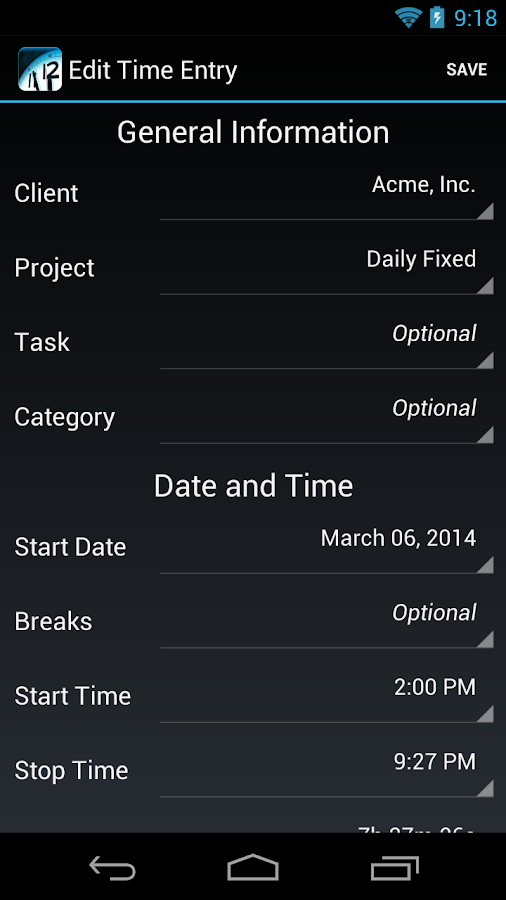 Time Master - Time Tracking- screenshot