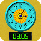Clock Time Reading for Kids icon