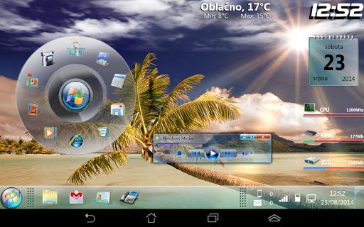 Windows 7 With Circle Dock