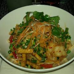 Pad Thai w/tofu & shrimp. Spicy!!