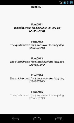 Fonts for FlipFont 91