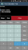Screenshot of Time Calculator Trial