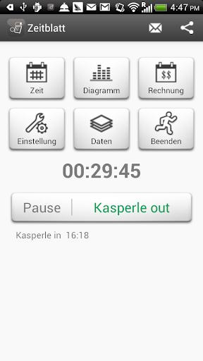 Zeiterfassung screenshot