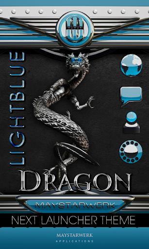 次のテーマ ドラゴン ライトブルー NEXT