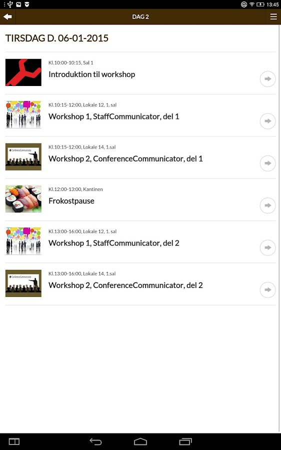 ConferenceCommunicator- screenshot