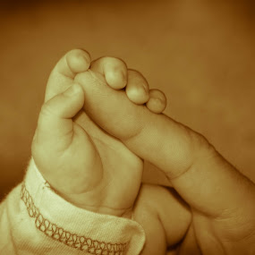 Mother and son by Steve Trigger - Babies & Children Hands & Feet