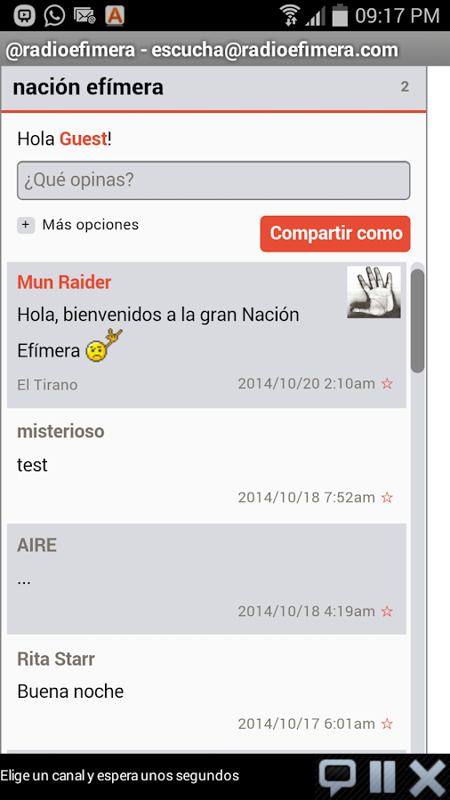 Efímera- screenshot