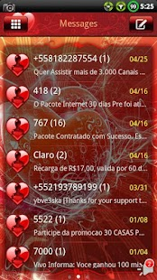 Valentines Day GO SMS Theme- screenshot thumbnail