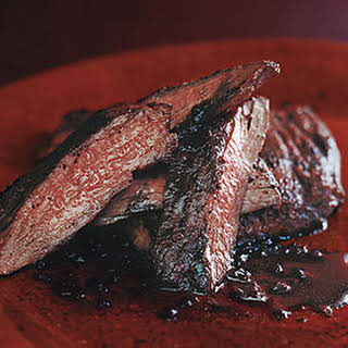 Sumac Skirt Steak with Pomegranate Reduction.