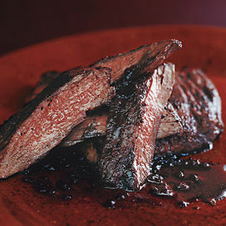 Sumac Skirt Steak with Pomegranate Reduction.