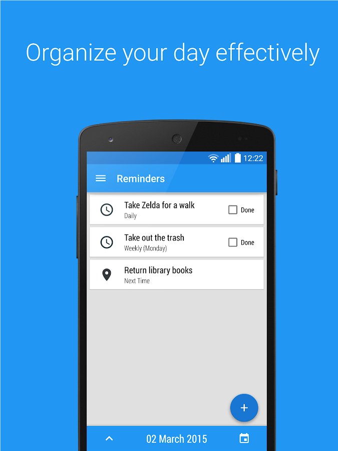 Reminders - Task reminder app- screenshot
