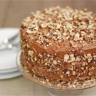 Chocolate Kahlua Cake with Salted Hazelnut Chocolate Buttercream.