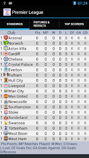Premier League Standings - screenshot thumbnail