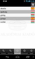 Screenshot of Hungarian Language Dictionary