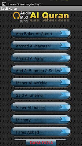 Sesli Kuran 103 farklı sesten