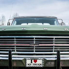 The Old mans truck by Jonathon Rader - Transportation Automobiles ( pick-up, headlights, truck, ford )