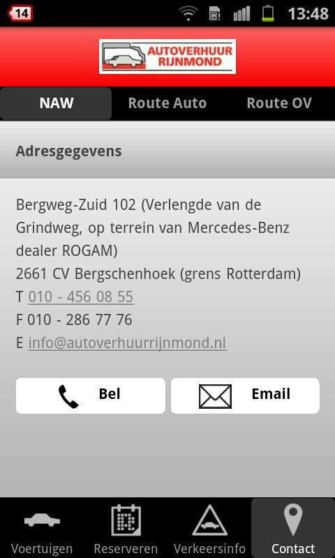 Autoverhuur Rijnmond - screenshot