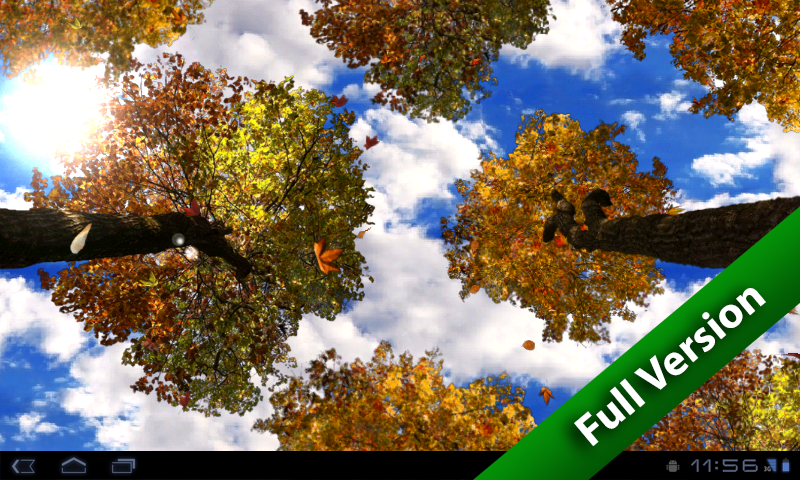 Falling Leaves Free Wallpaper - screenshot