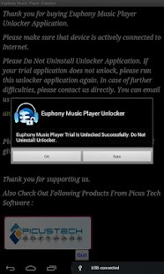 Euphony MP Unlocker SALE - screenshot thumbnail