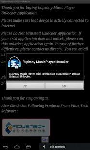 Euphony Music Player Unlocker - screenshot thumbnail