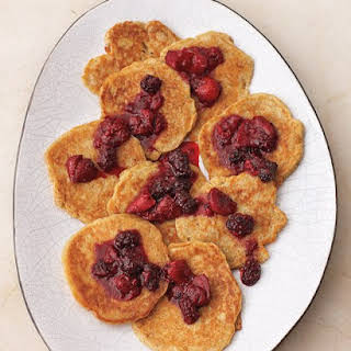 Pecan Pancakes with Mixed Berry Compote.