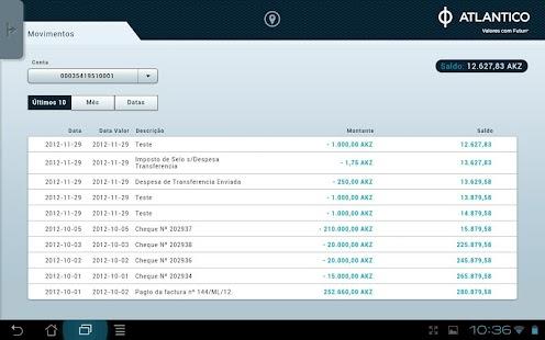 ATLANTICO Tablet Banking - screenshot thumbnail