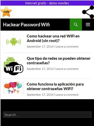 Internet gratis wifi - datos