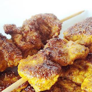 Pinchitos Morunos de Pollo Recipe (spiced chicken kebabs).