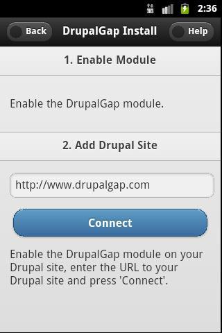 DrupalGap- screenshot