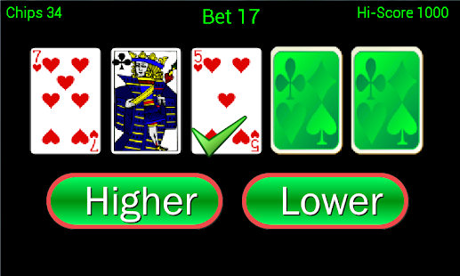 Higher or Lower Pro card game - Android Apps on Google Play