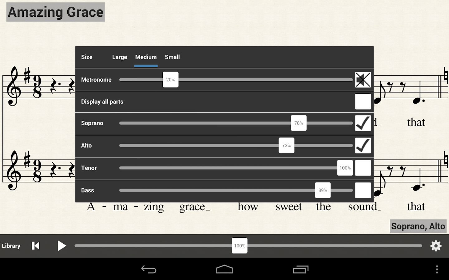 MuseScore Sheet Music Player - screenshot