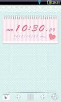 Screenshot of Cute and girly Clock Widget