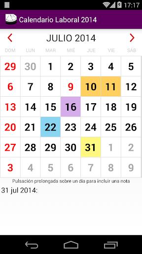Calendario 2015 Argentina NoAd