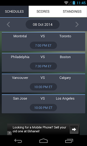 Live Hockey Scores