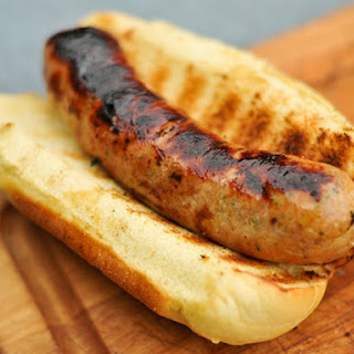Grilled Spicy Mango Chicken Sausage