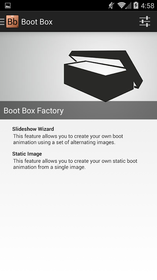 Boot Box - screenshot