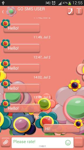 GO短信加强版五颜六色的鲜花