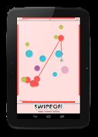 Screenshot of Swipe Off : a moving Dots Game
