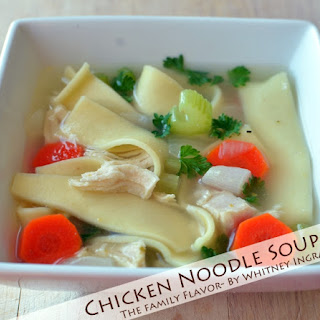 Our Family's Favorite Chicken Noodle Soup {The Family Flavor}
