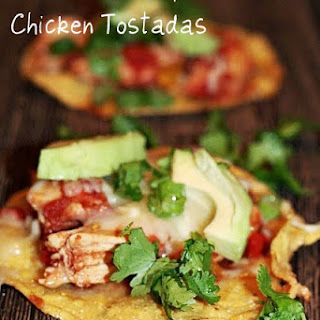 Slow Cooker Chipotle Chicken Tostadas (low FODMAP).