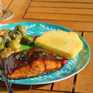 Miso(ish) Glazed Salmon