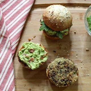 Quinoa & Black Bean Burger With A Smoky Avocado Spread