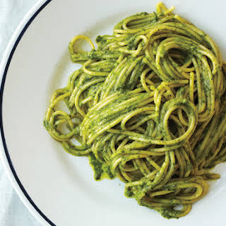 Ligurian Pesto with Spaghetti.