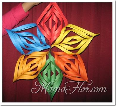 Manualidades En Papel Estrella Multicolor Manualidades Mamaflor