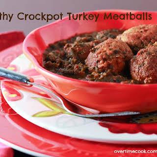 Crock Pot Turkey Meatballs in Tomato-Spinach Sauce.