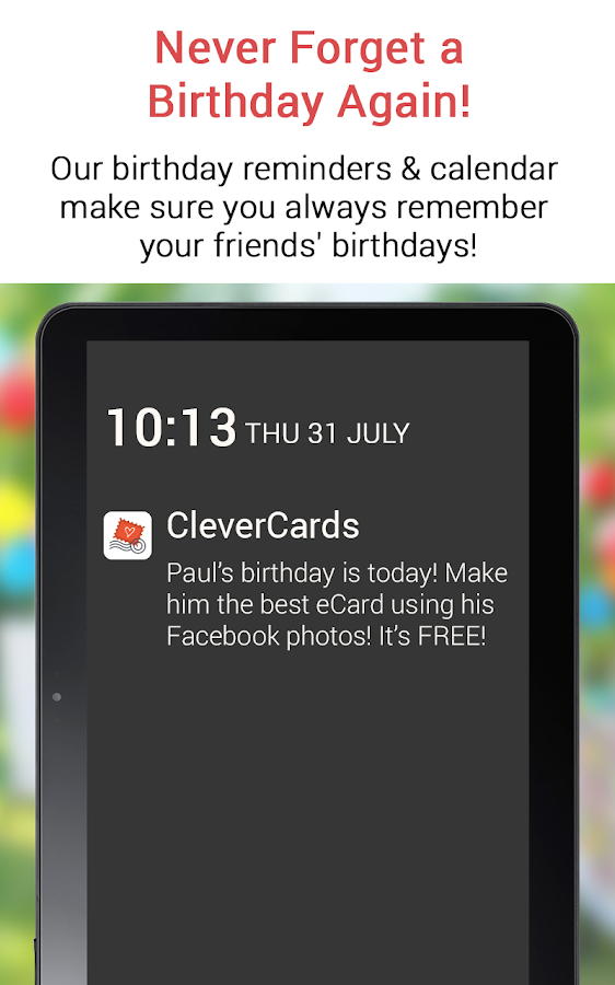 CleverCards Birthday Cards- screenshot
