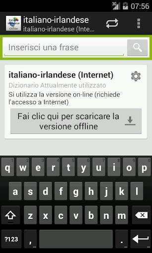 Italiano-Irlandese Dizionario