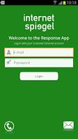 Screenshot of InternetSpiegel Response App