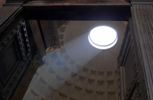Pantheon-light-Rome - One of Rome's iconic sights, the 2,000-year-old Pantheon is the city's best-preserved ancient monument.