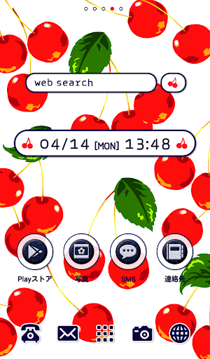 Cute wallpaper★cherry cherry